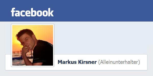Alleinunterhalter Markus Kirsner